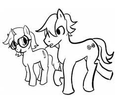MLP Comic Sketch by midgear