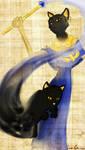Bastet and cat concept 01