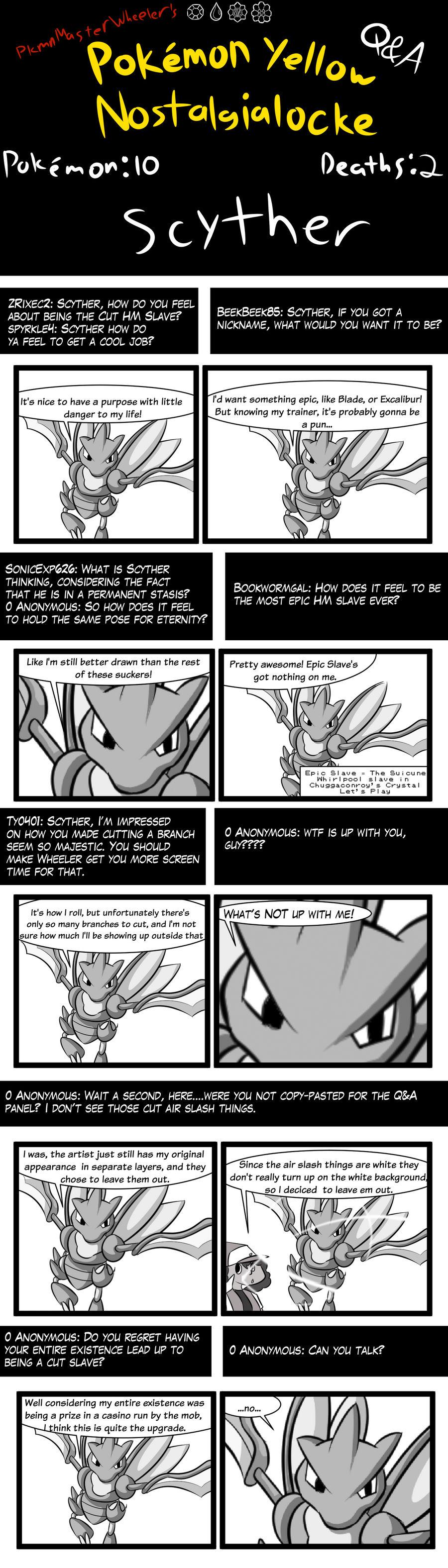 Pokemon Yellow Nostalgialocke QA Scyther by pkmnMasterWheeler