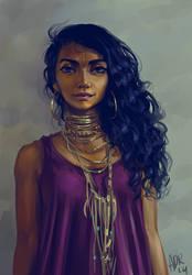 Stylized Portrait by adrhaze