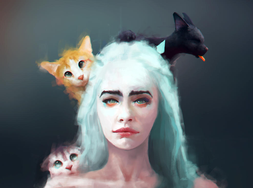 Khaleesi Mother of Cats by Apocalypse-tr
