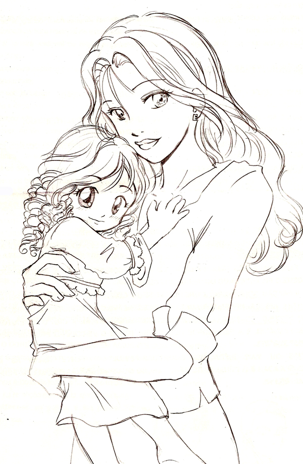 Renesmee And Bella By Bpanetobernardi On Deviantart Twilight Coloring Pages To Print