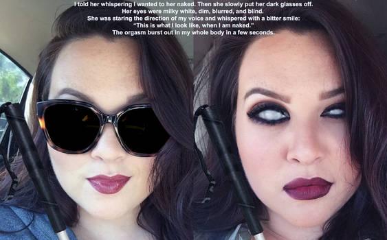 Blind beautiful girl