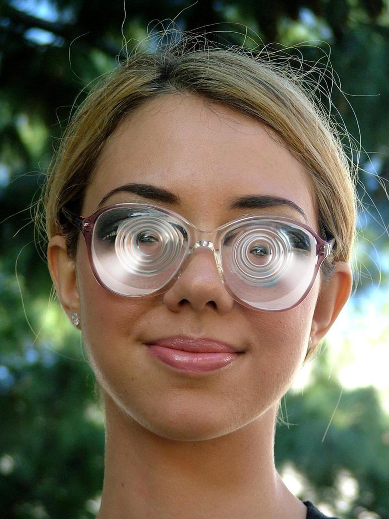 7fabcb533c A girl with double myodiscs bobbylaurel on deviantart jpg 774x1032 Myopic  extremely thick lense glasses