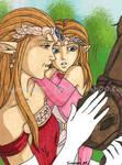 Queen Zelda with Daughter