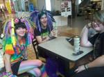 Me, Julia, and Danni at mall.