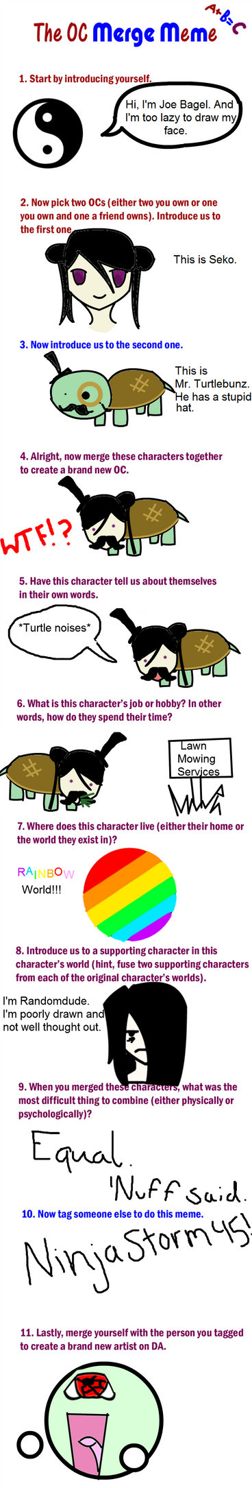 Character merge meme... Poorly drawn... by derpgamer12345