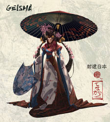 Geisha - Feudal Japan 4/8 by Tck--Tck