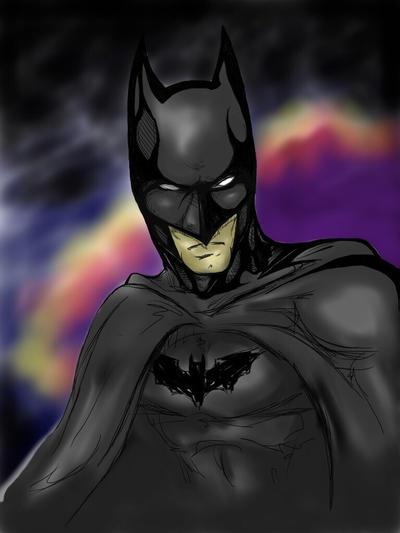Batman Sketch by hintofsilence