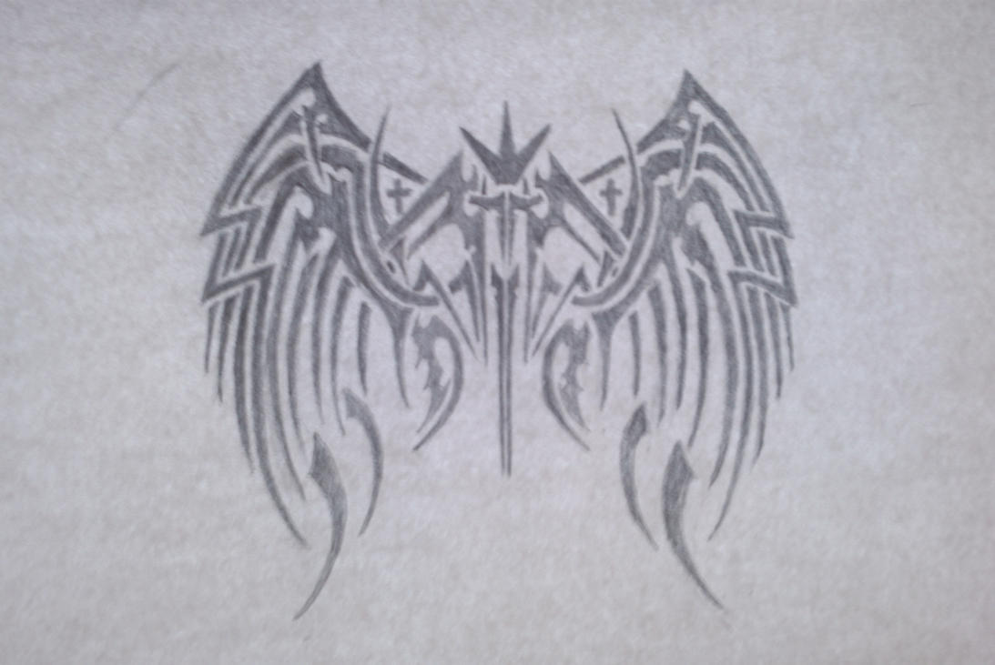 tribal wings with cross by XMcGregorX on DeviantArt