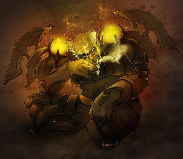 Smoke Break - Orc Warrior by duneboo