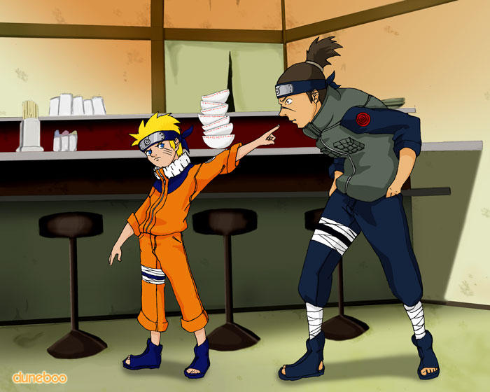 Ramen - Naruto and Iruka by duneboo