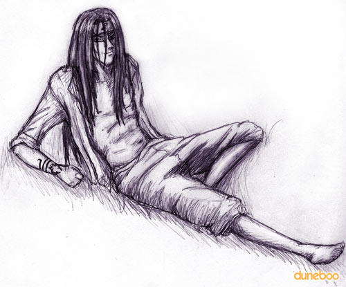 Orochimaru Lounging by duneboo