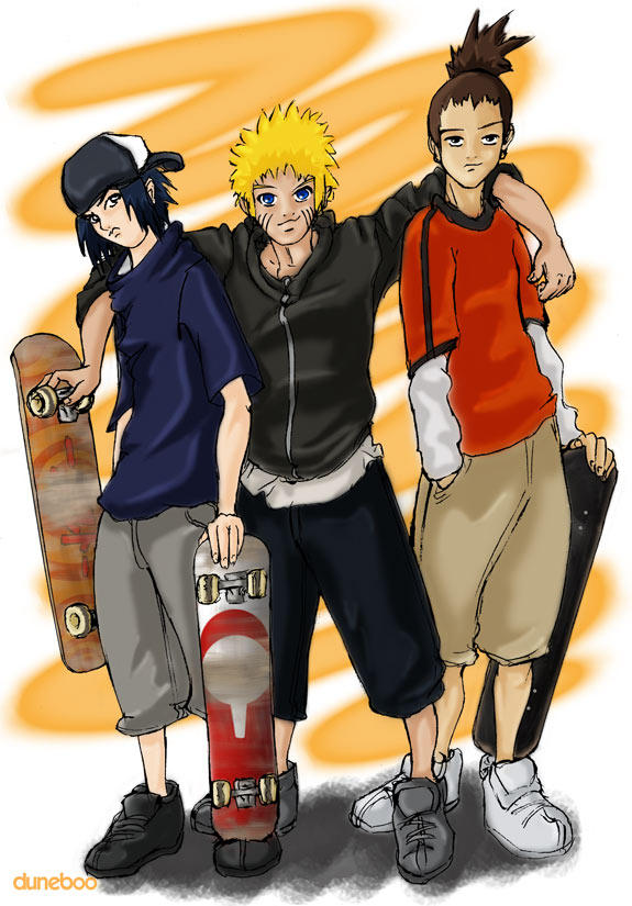 Naruto - Skater Boyz by duneboo