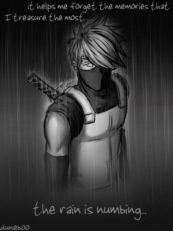 The Rain is Numbing - Kakashi by duneboo