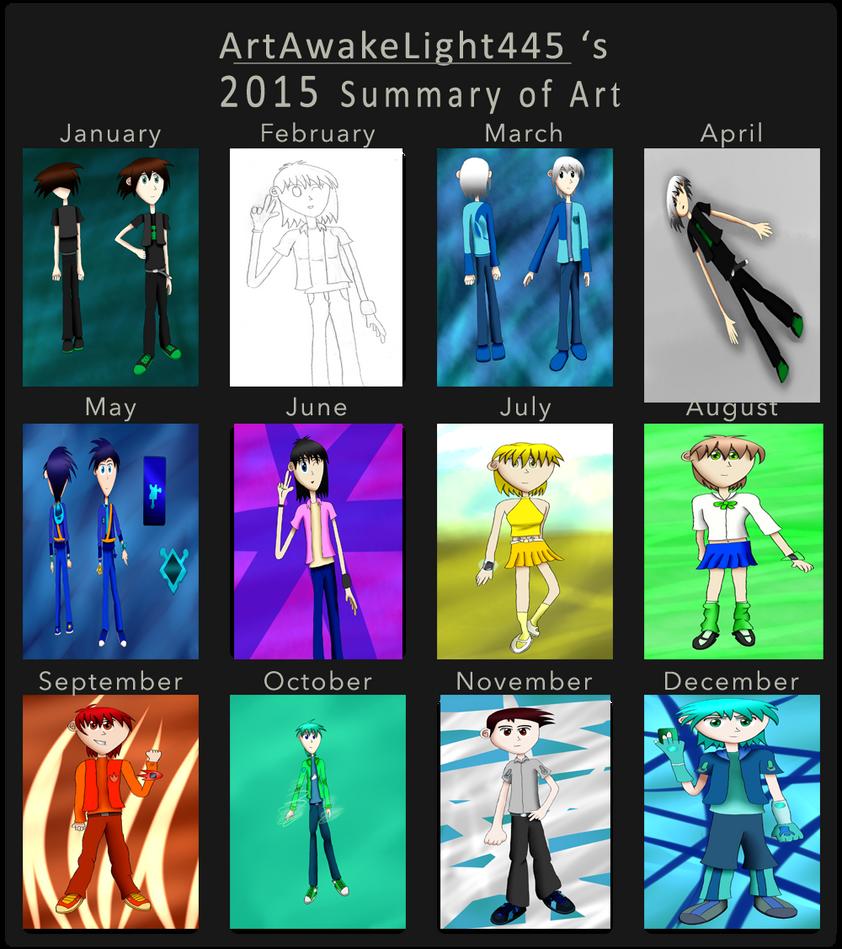ArtAwakeLight445's 2015 Summary of Art by ArtAwakeLight445