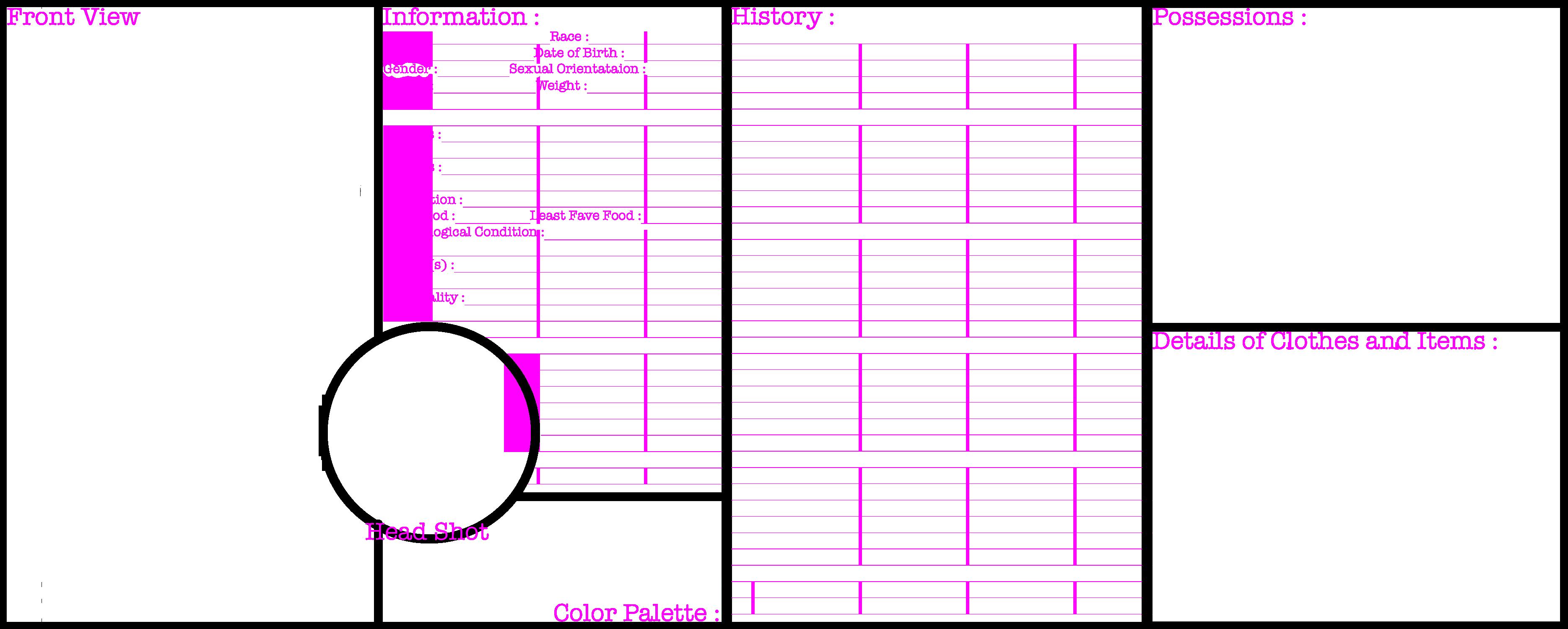 Character information sheet - Blank Character Sheet By Bloodyangellexus Blank Character Sheet By Bloodyangellexus