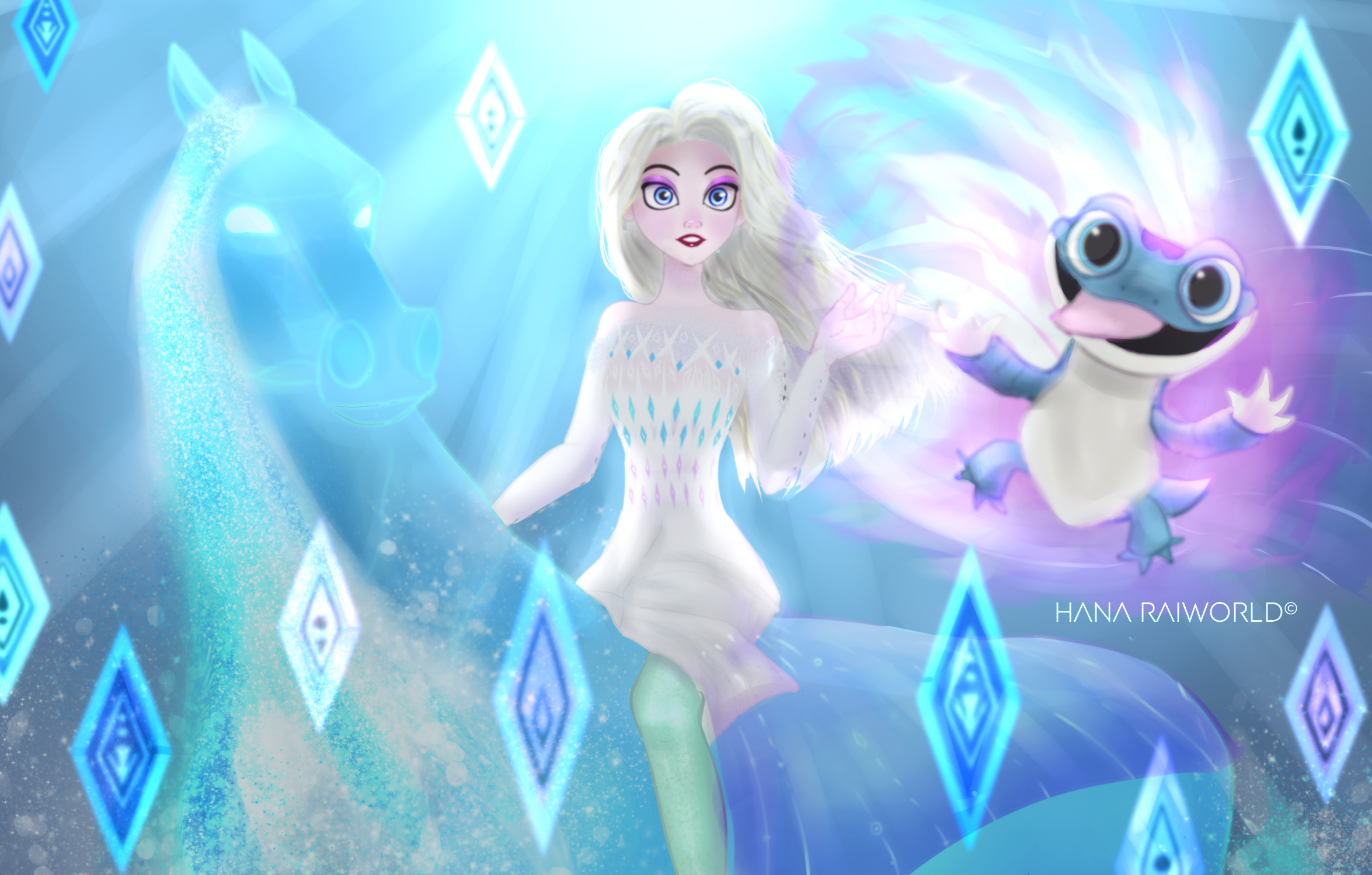 Frozen 2 - Elsa, Nokk And Bruni
