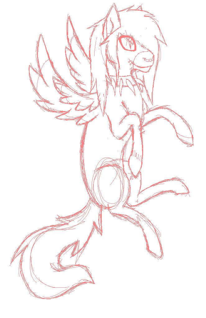 pony sketch by Icetalon-the-Warrior