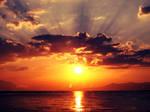 A beautiful sunset in greece ....