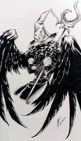 Inktober 25: Schwarzer Tenor 3