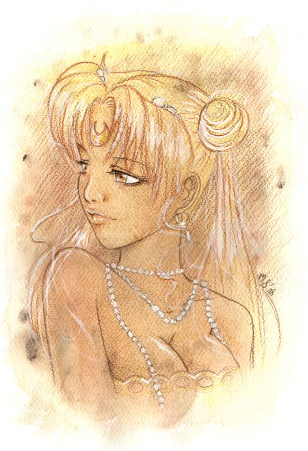Neo Queen Serenity portrait by silver-eyes-blue