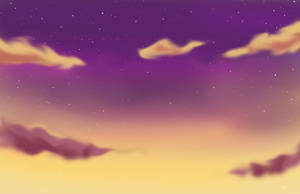 Purple - Golden Sky Background