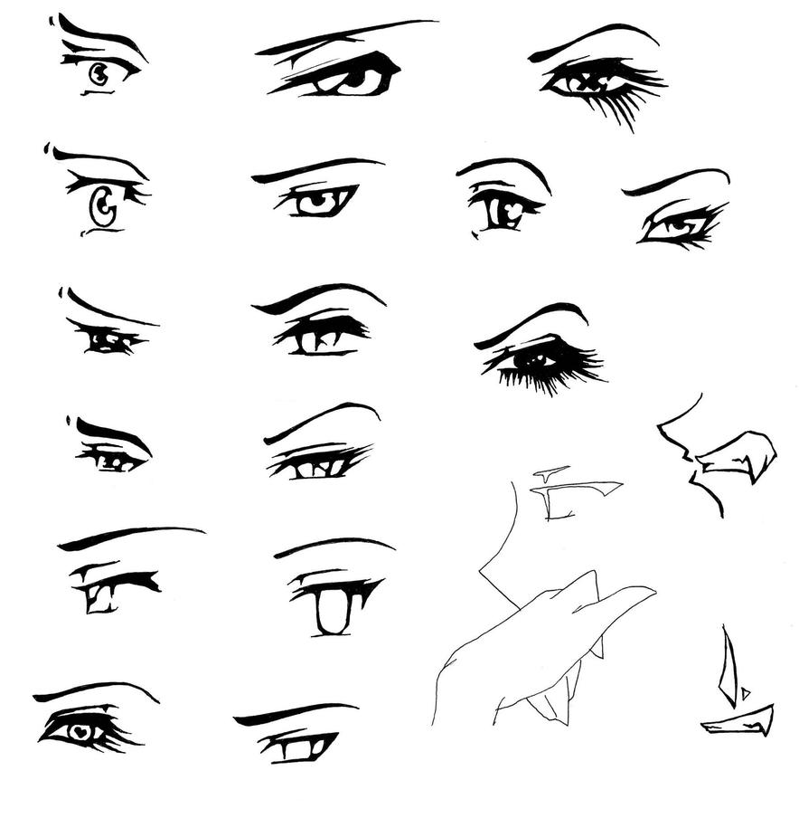 manga eye coloring pages - photo#1