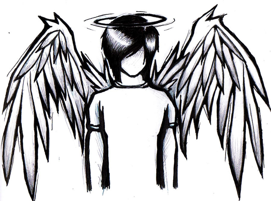 Emo anime angel boy