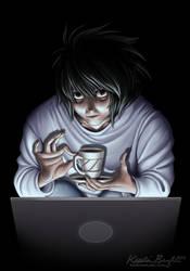Tea by Laptop Light by KrisCynical