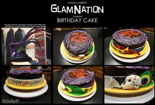 GlamNation Birthday Cake