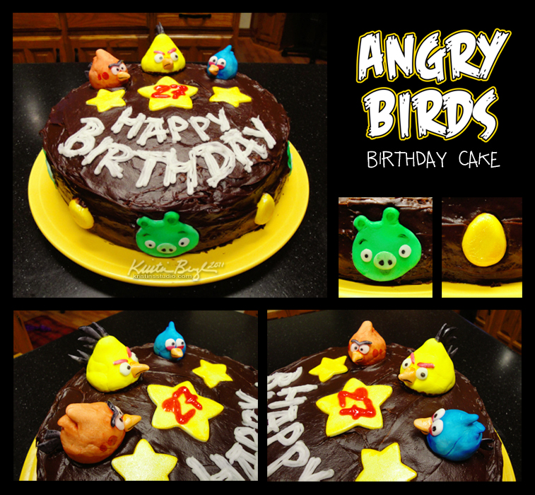 Angry Birds Birthday Cake by KrisCynical
