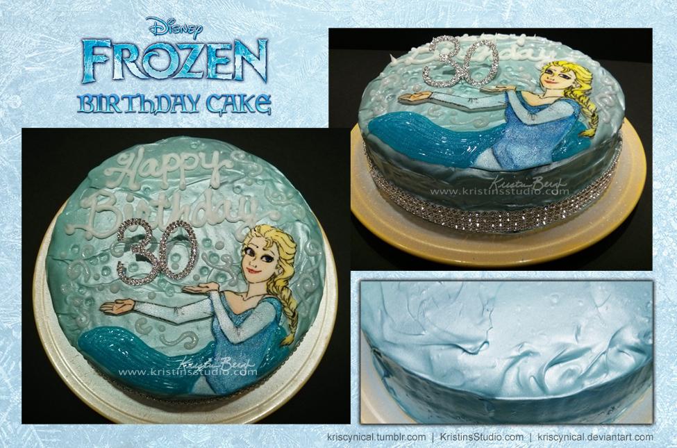 The Big Three-oh: Elsa Cake by KrisCynical