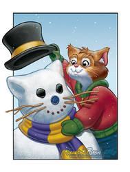 EDITED: The Snowcat by KrisCynical