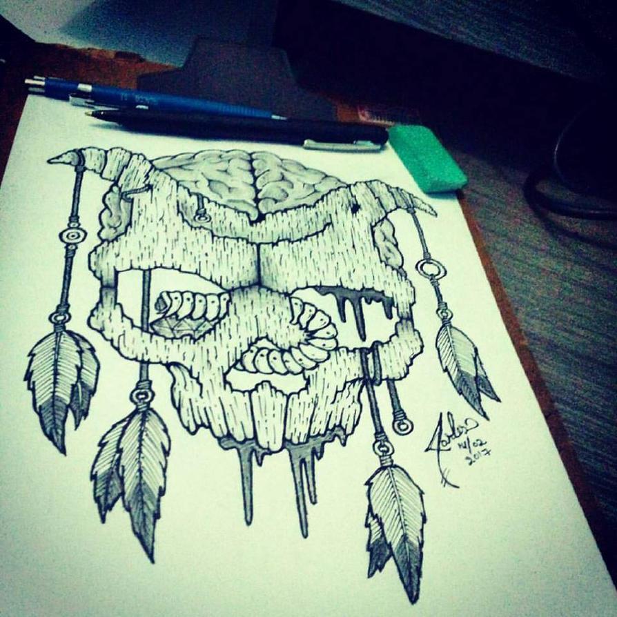 Shaman Skull Mask by PsychoXarles