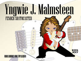 Yngwie Malmsteen Chibi by roelworks