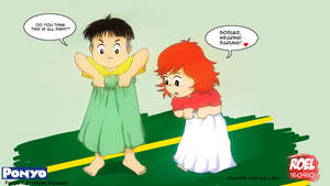 Ponyo Sosuke and sarung by roelworks