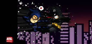 Cats vs bats 2 by roelworks