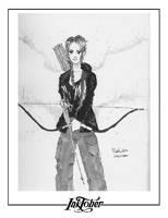 Inktober - Katniss by roelworks