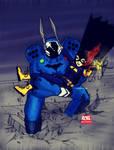 Divergence Batman and Batgirl