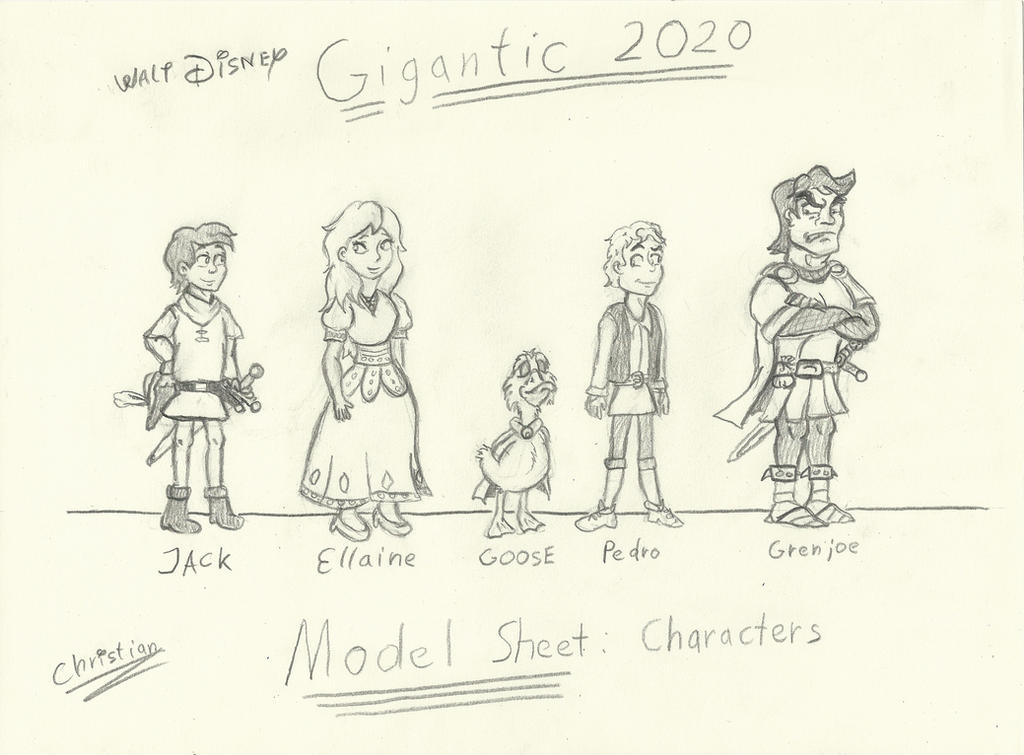 Gigantic Disney Deviantart: Disney Gigantic Model Sheet Characters 1 By Chrisxas137 On