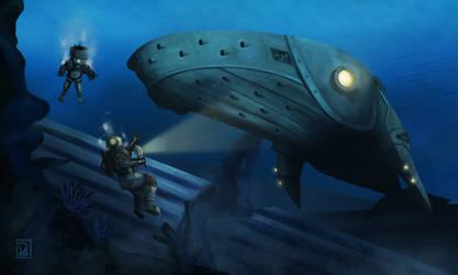 Steampunk Whale by sevenartofjc