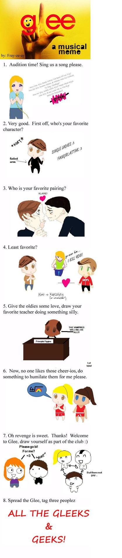 Glee Meme by DragonNinjaD