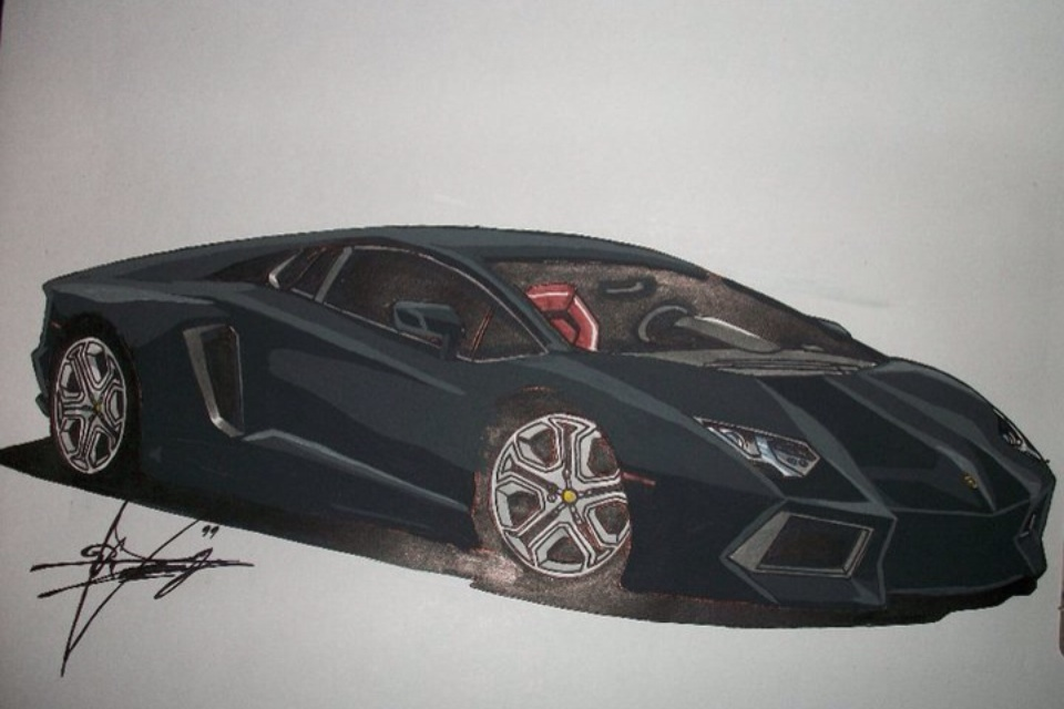 burnout black lamborghini lp7004 aventador by ricky89proo
