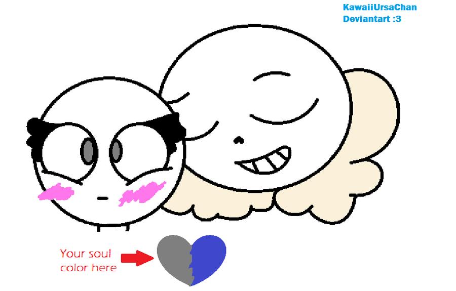 Sans x OC base [hey there] by KawaiiUrsaChan
