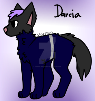 Kawaiitober day 4 Darcia's full wolf form by KawaiiUrsaChan