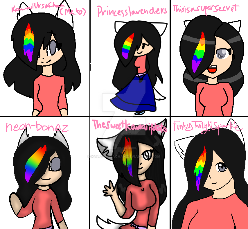 Trying styles of kawaii friends! by KawaiiUrsaChan