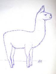 Llama :3 :3 :3 by fude-chan-art