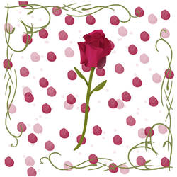 Rose Pattern Single