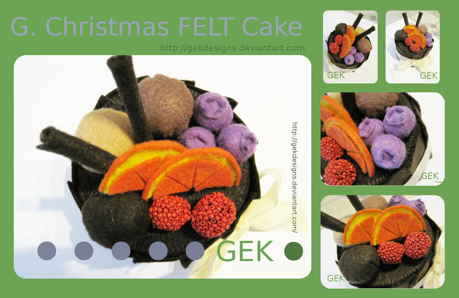 G. Christmas FELT Cake by GEKdesigns